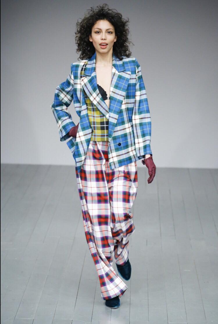 London Fashion Week Autumn/Winter 2018 Marta Jakubowski Checks