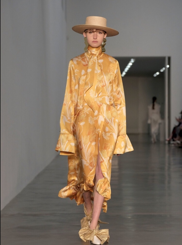 Mother of Pearl Yellow  London Fashion Week Autumn/Winter 2018
